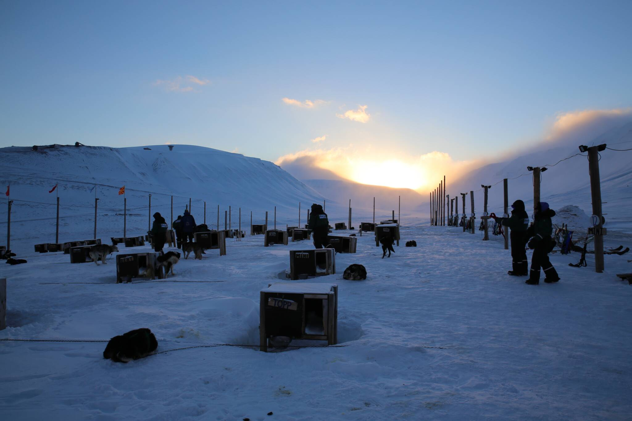 Spitsbergen Zimą